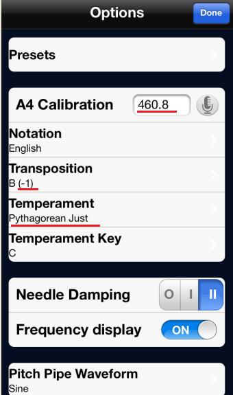 Tuner calibration2